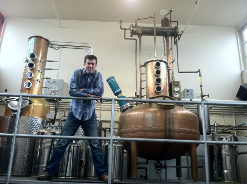 Dave Rigo in front of Watershed's stills
